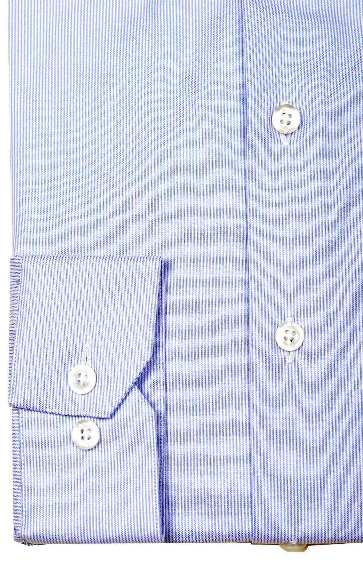Striped blue shirt