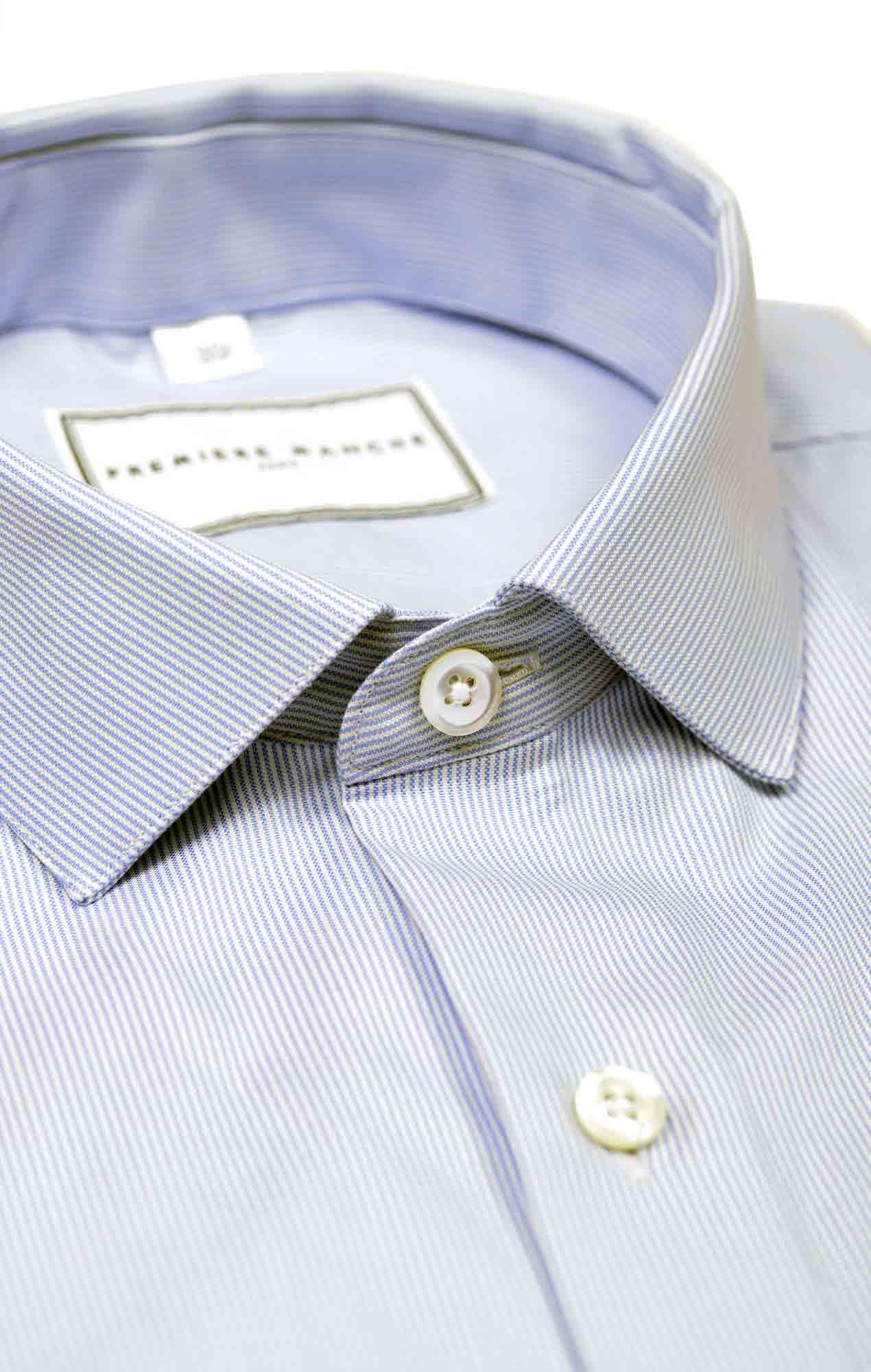Chemise Oxford bleu rayé Chemises Hommes