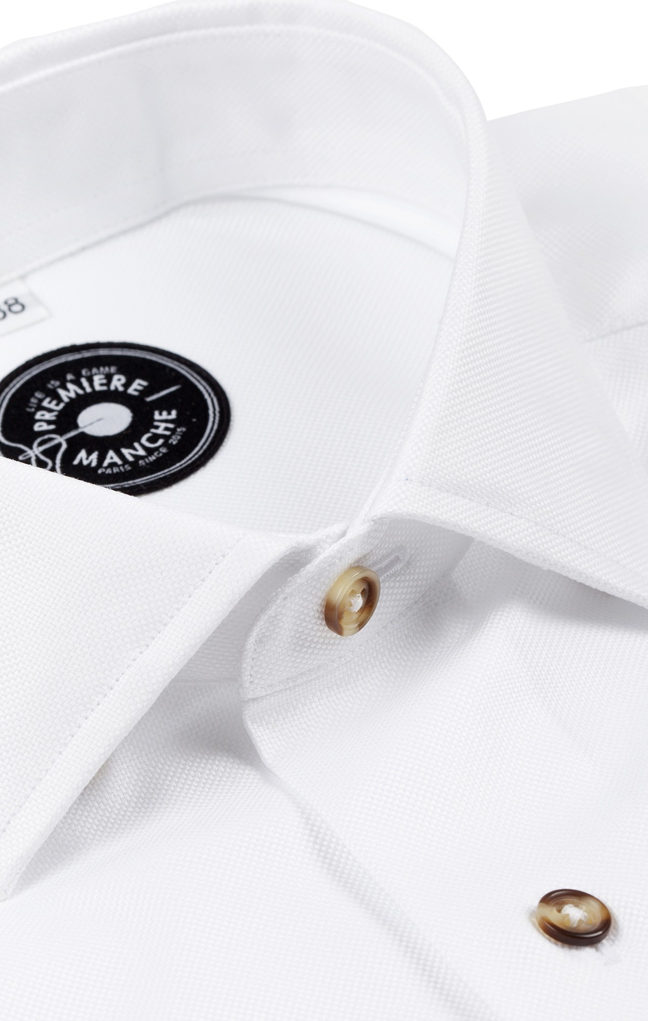 Chemise blanche Oxford natté boutons corne Toutes nos chemises