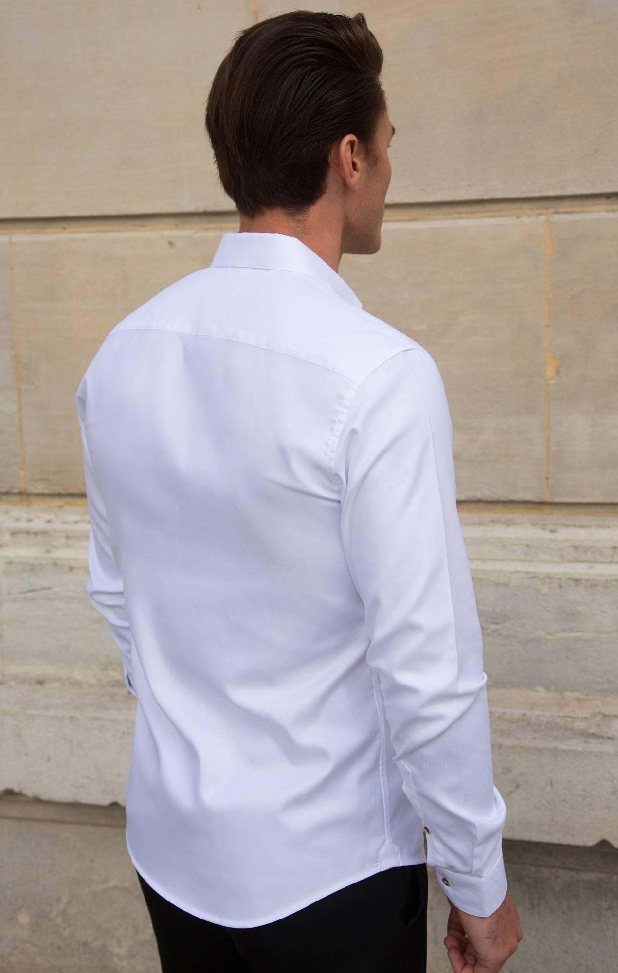 White thick oxford shirt