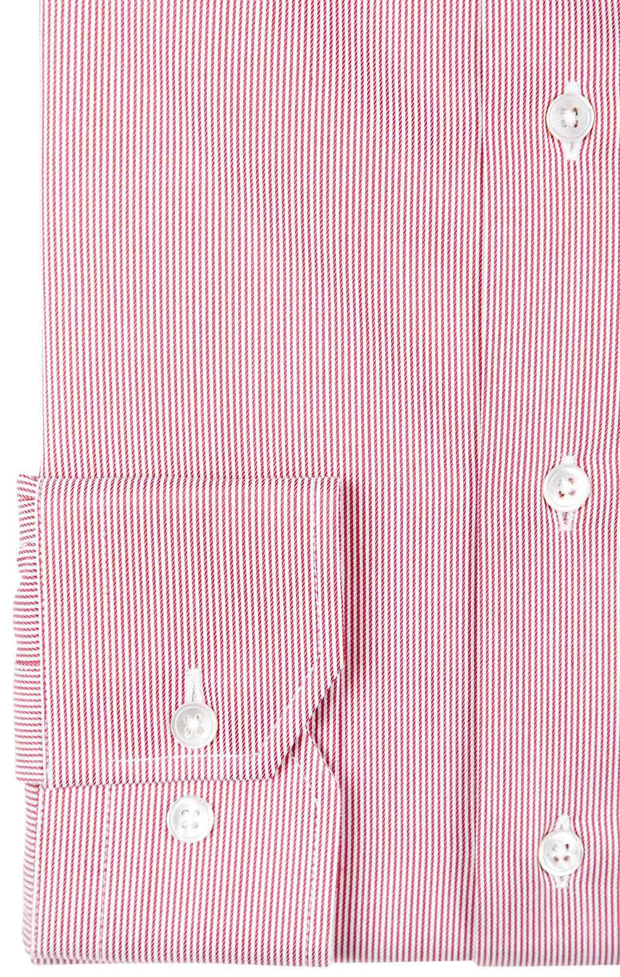 Chemise rayée rouge twill Les chemises