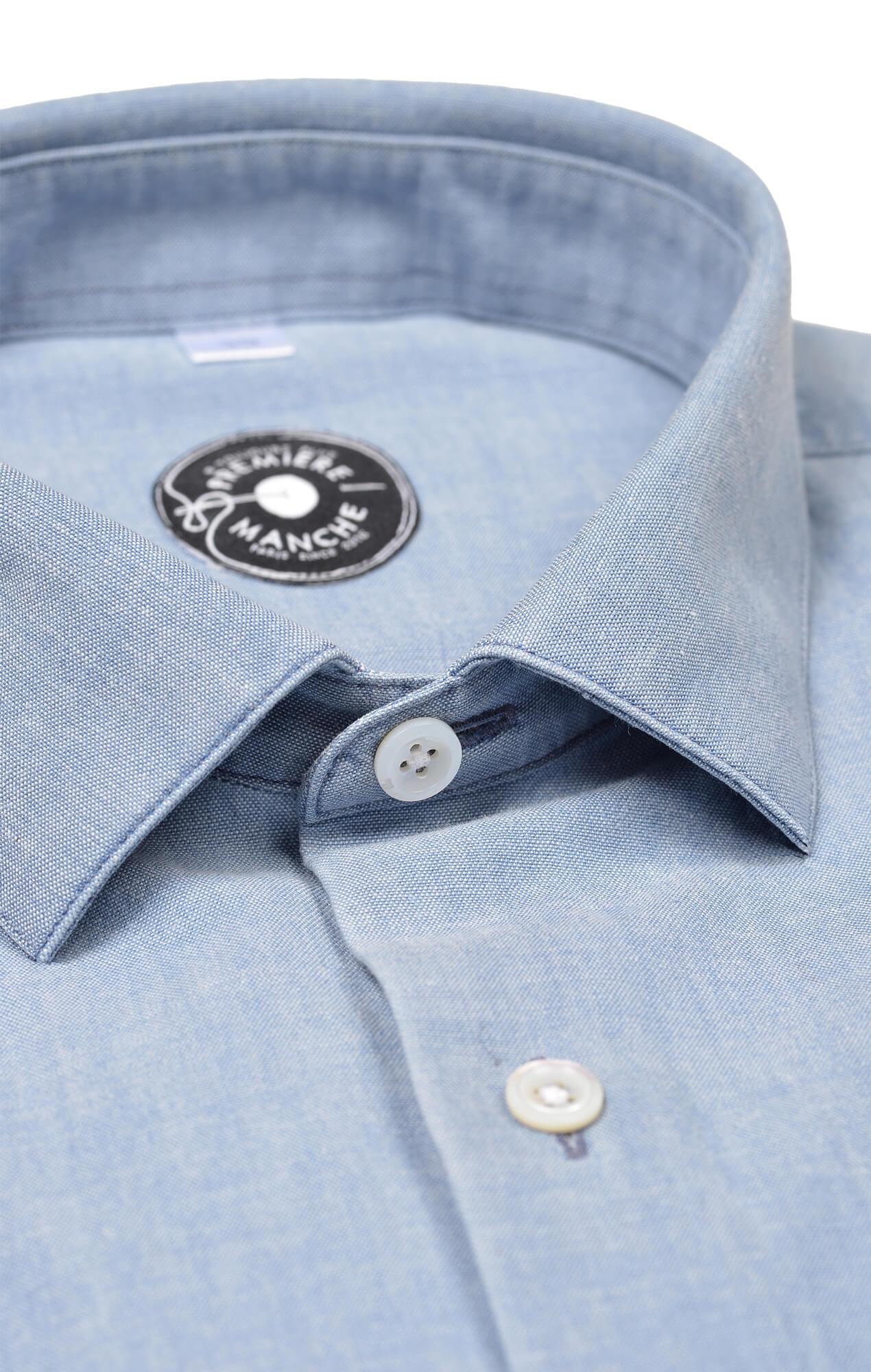Chemise chambray italien délavé Chemises Hommes