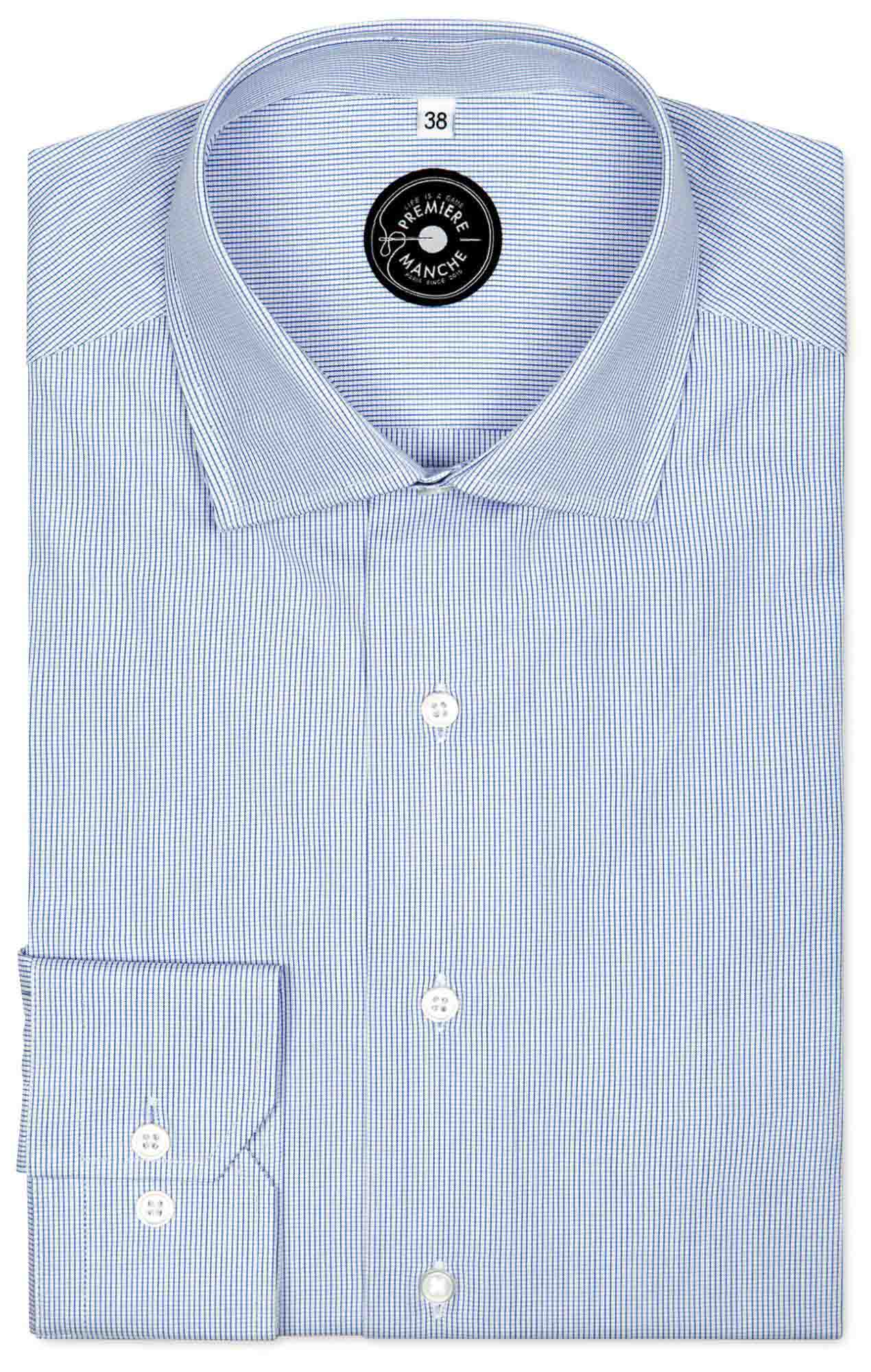 Mini checked blue shirt