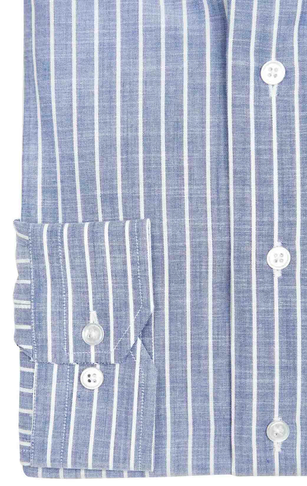 Blue faux-uni chambray
