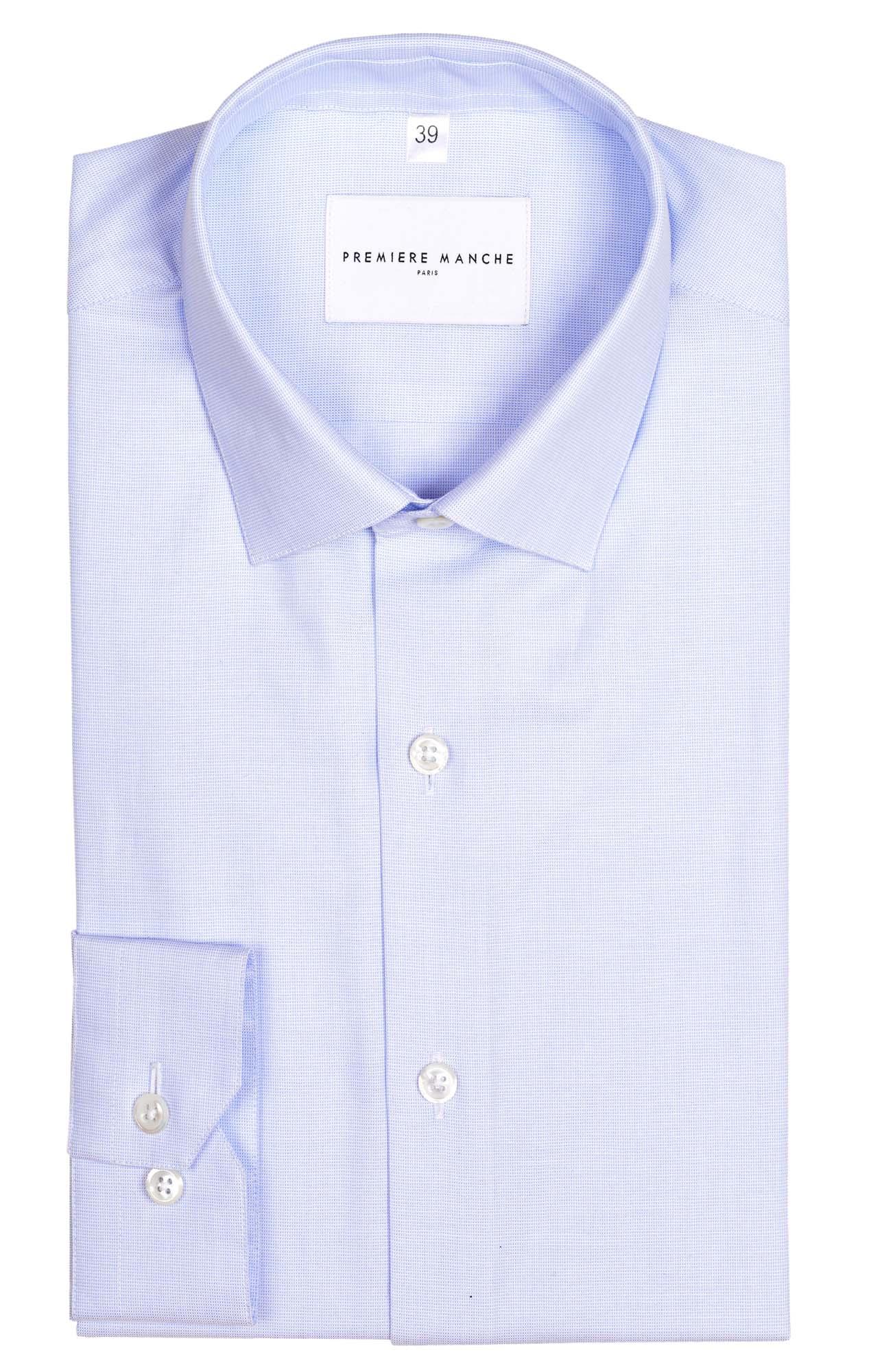 Chemise bleu clair unie Les chemises