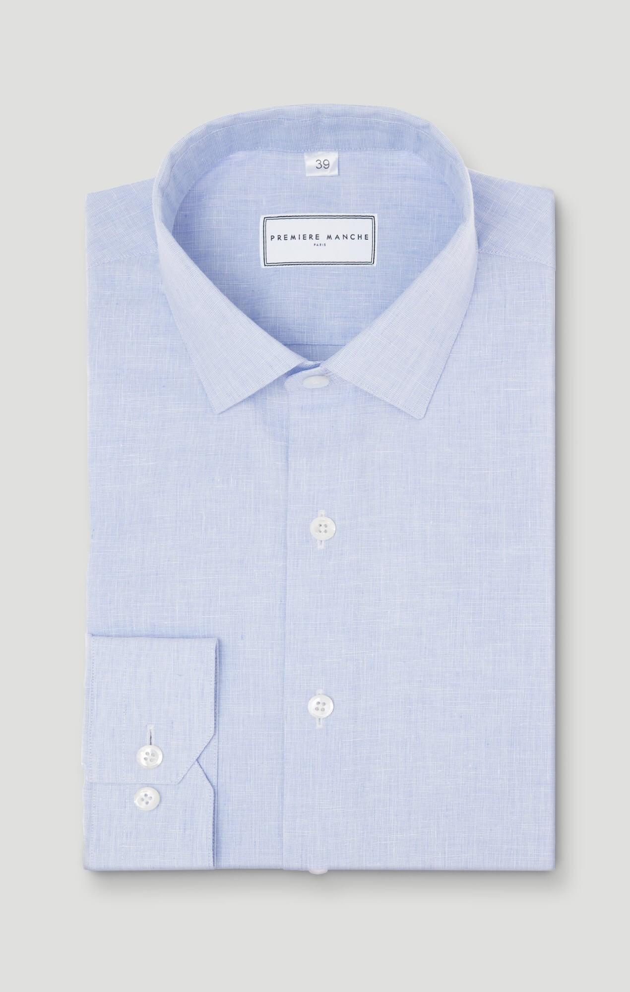 Chemise lin bleu ciel Chemises en lin