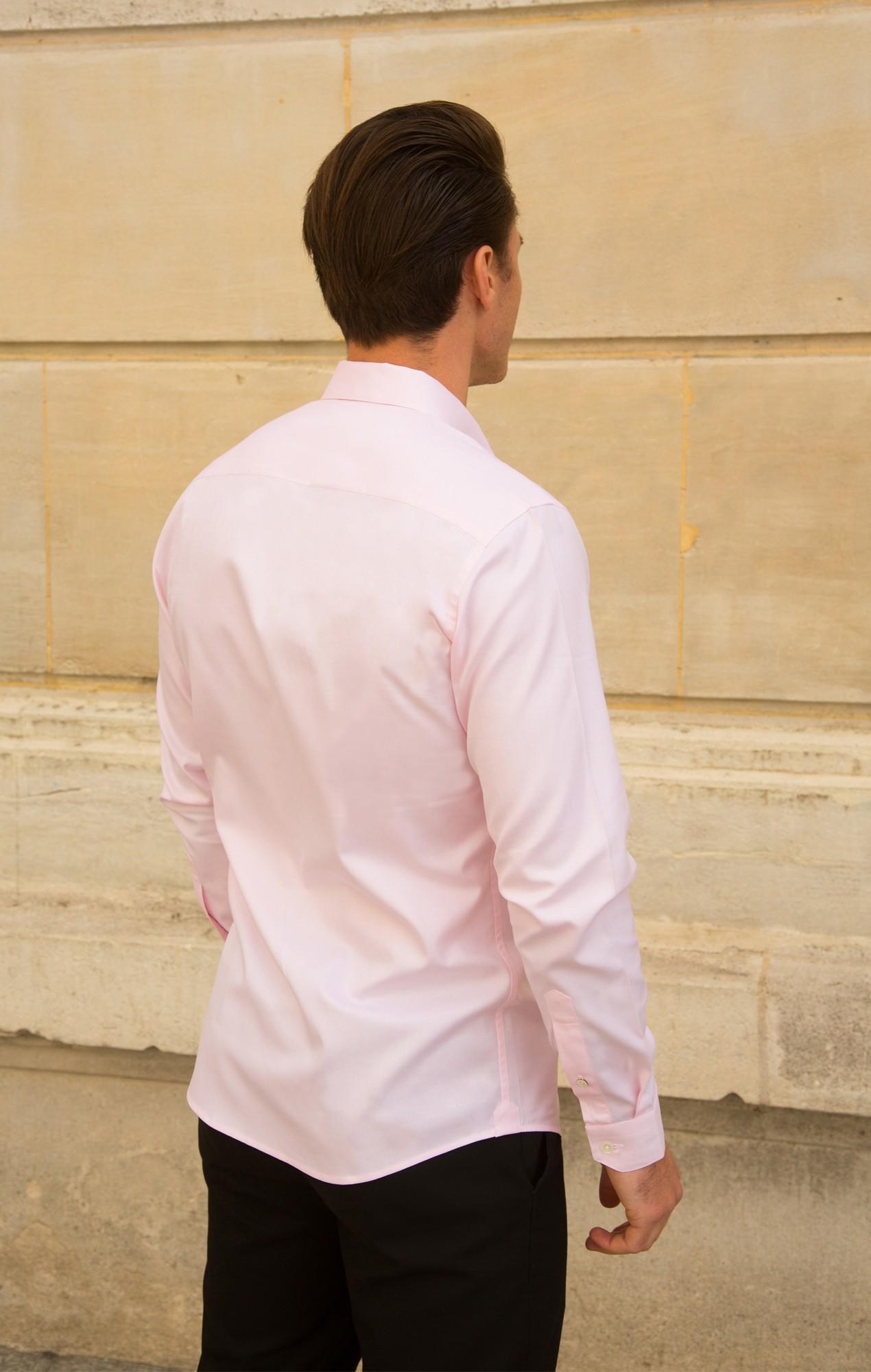 Chemise dobby rose Chemises Hommes