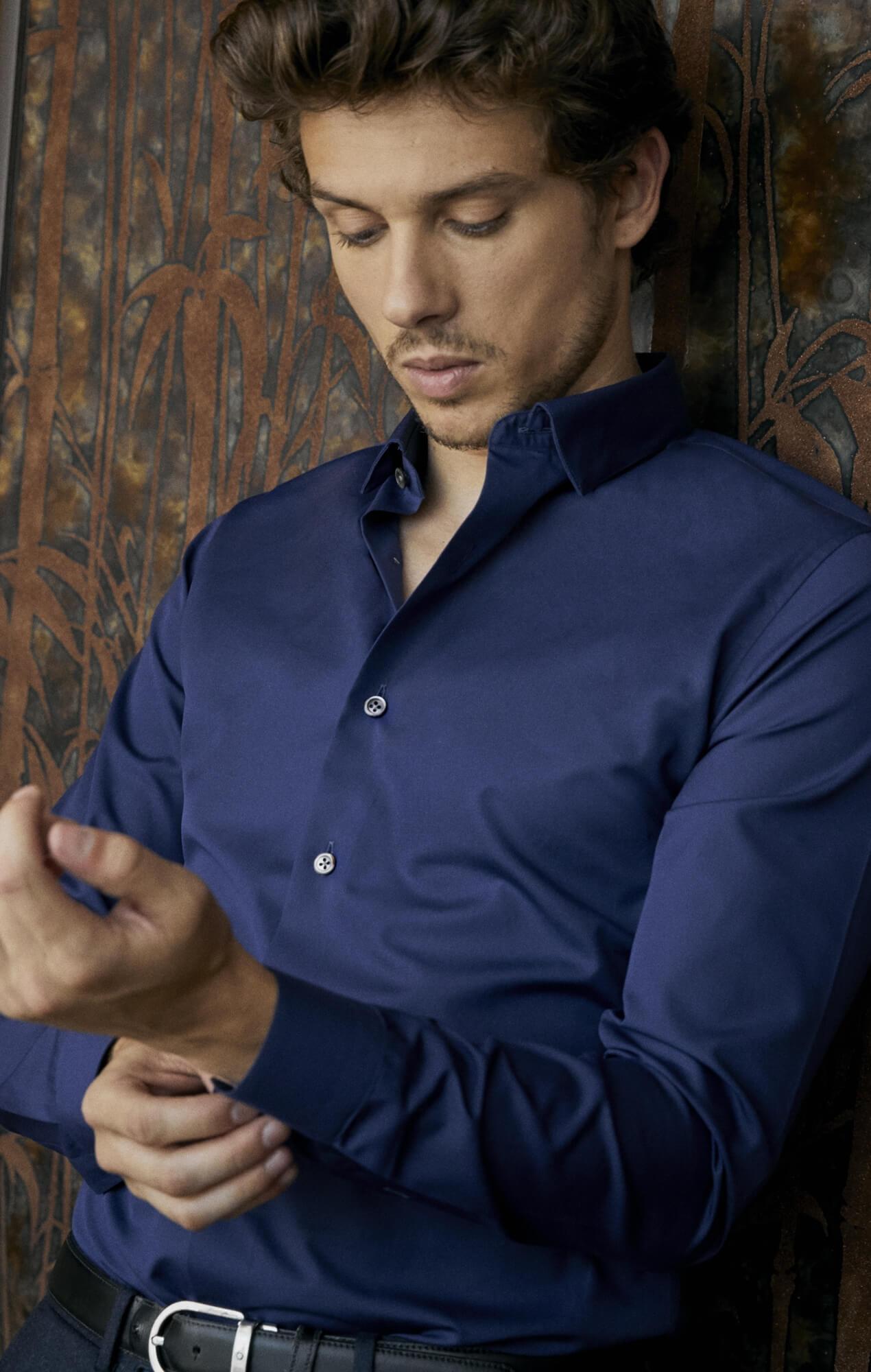 Chemise popeline bleu foncé Les chemises