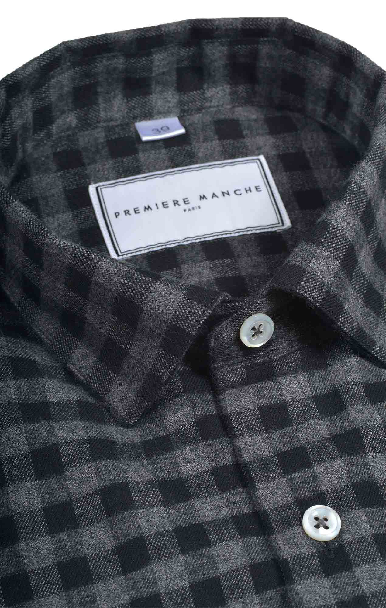 Checked grey flannel shirt
