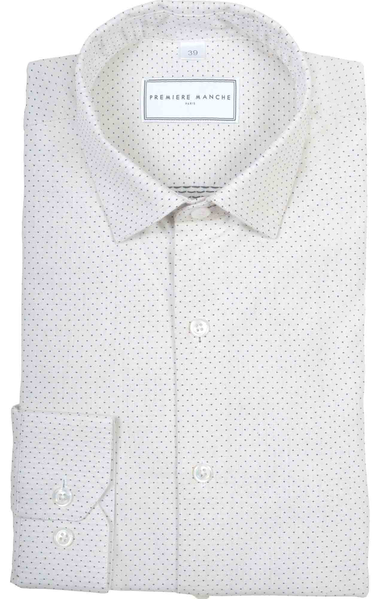 White oxford shirt with dots