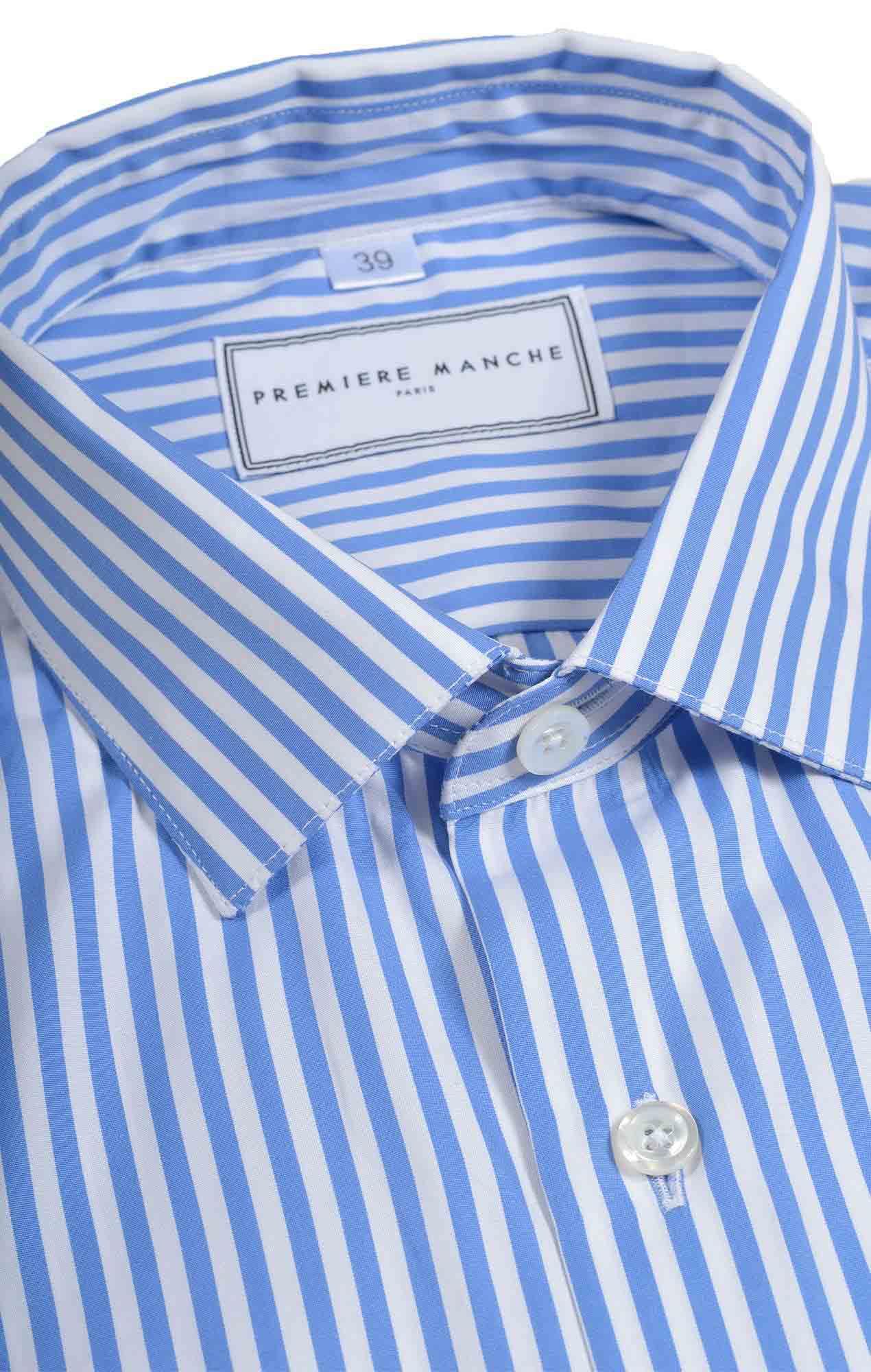 Blue poplin striped shirt