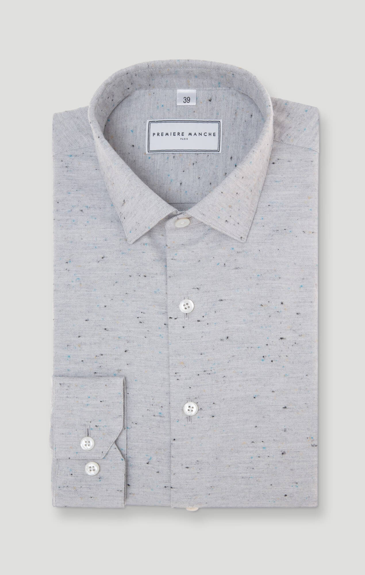Grey shirt with micro dots