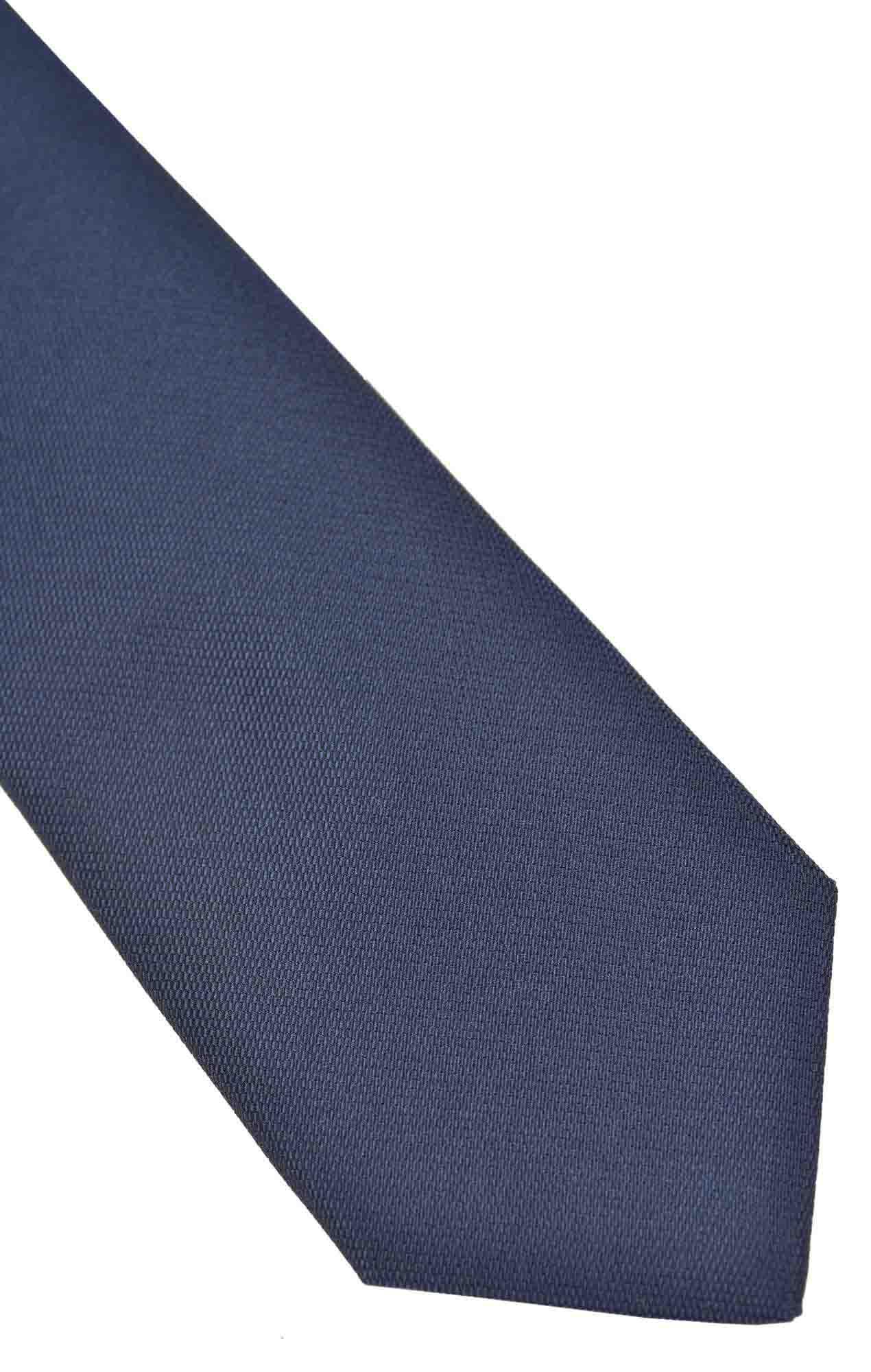Cravate Austen soie bleue Cravates
