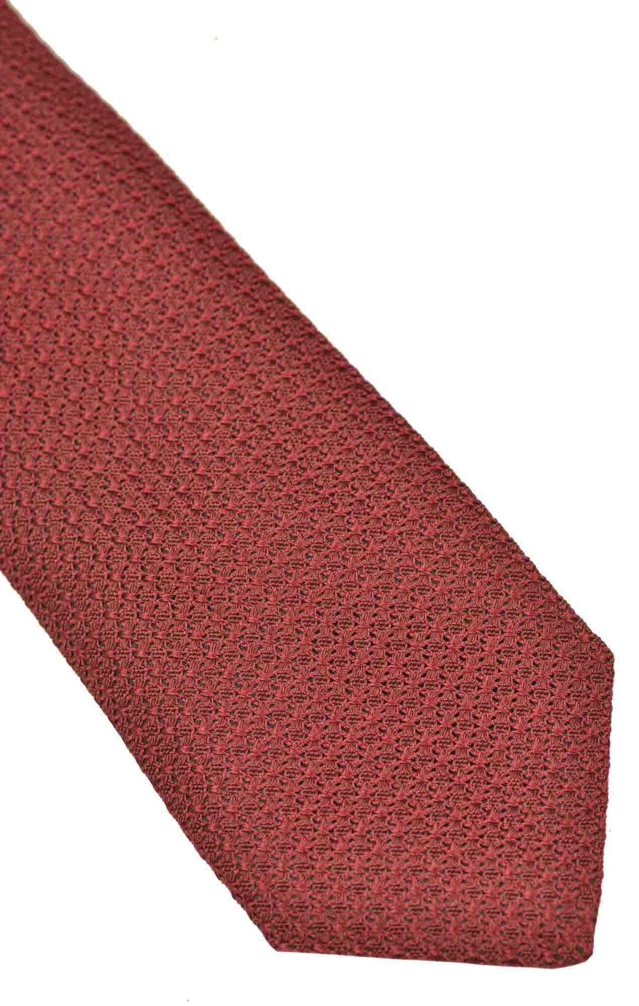 Cravate Austen grenadine rouge Cravates