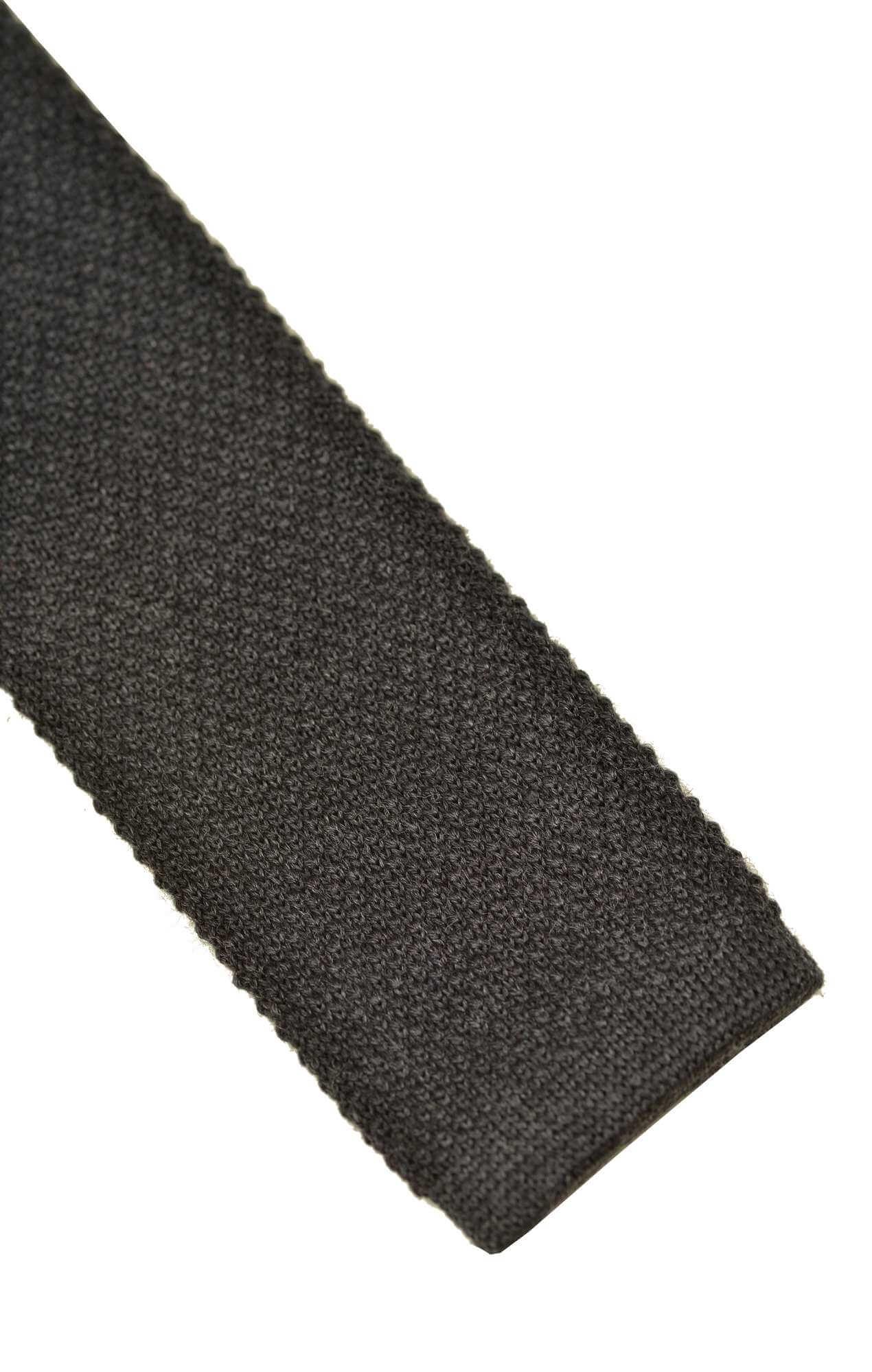 Cravate Austen tricot gris Home