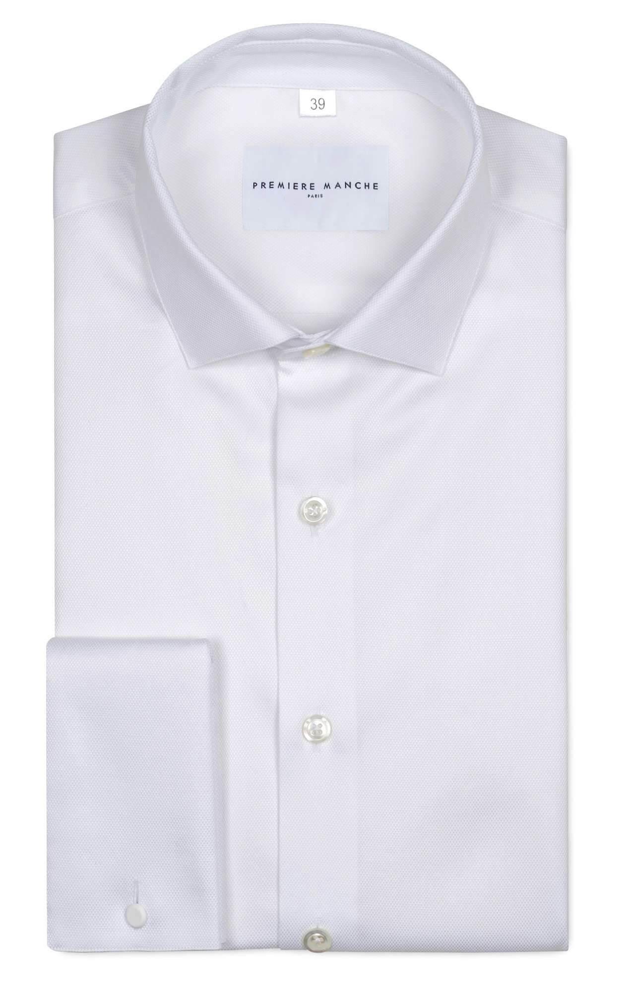Chemise blanche poignets mousquetaires Les chemises