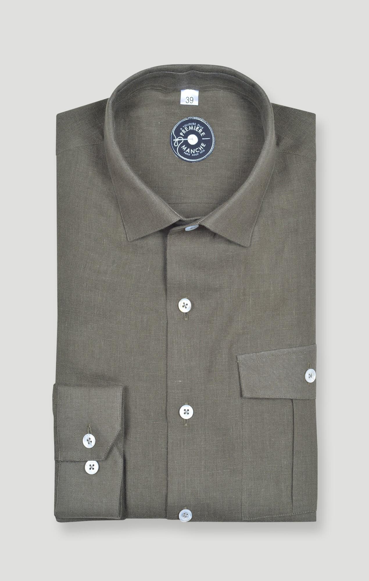 Kaki linen shirt