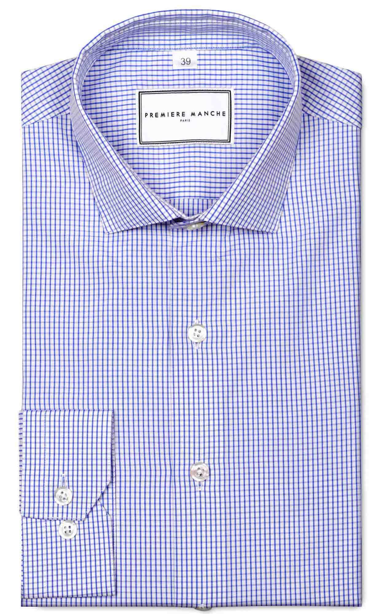 Chemise à carreaux bleu foncé Chemises Hommes