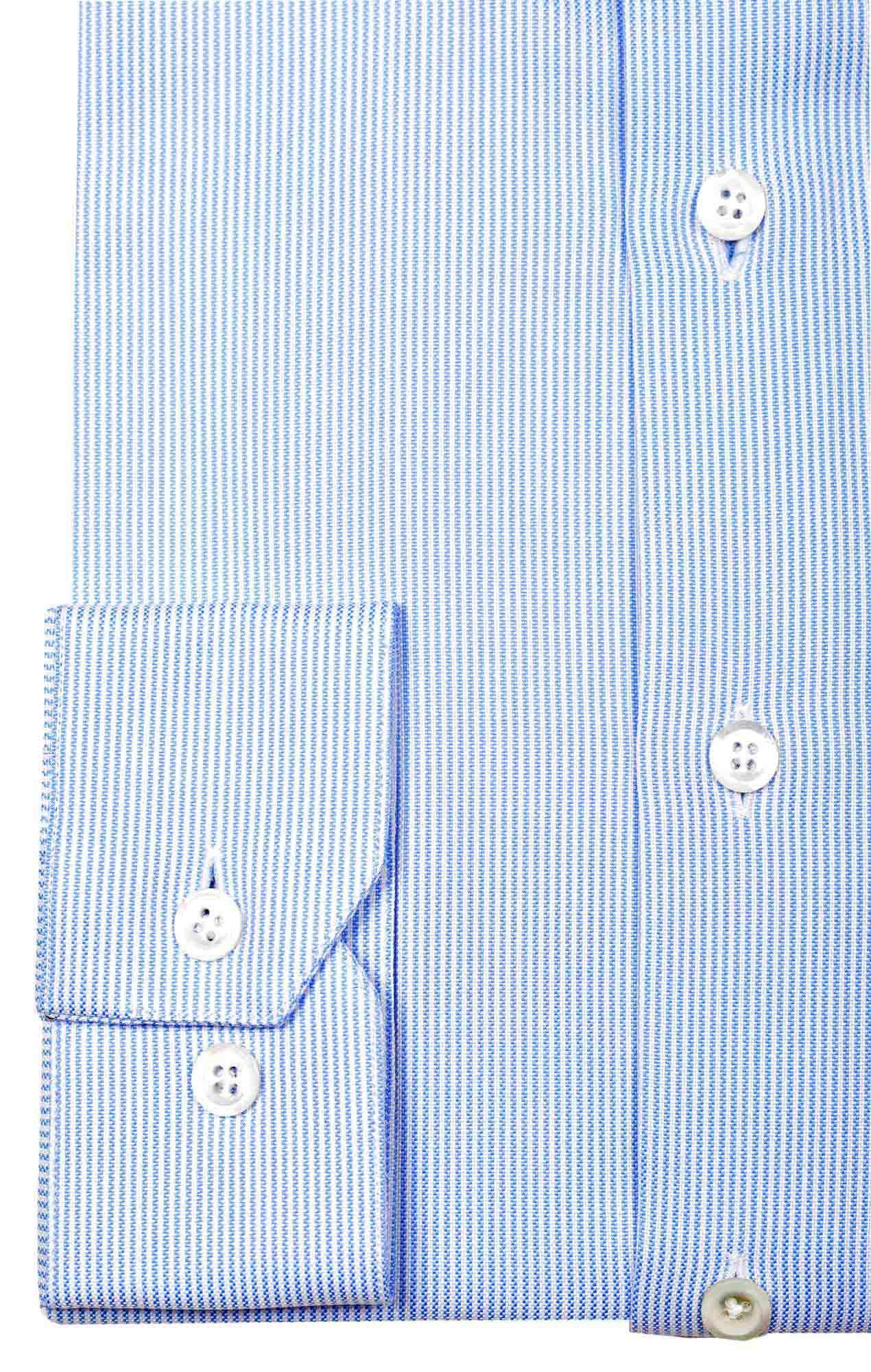 blue striped oxford shirt