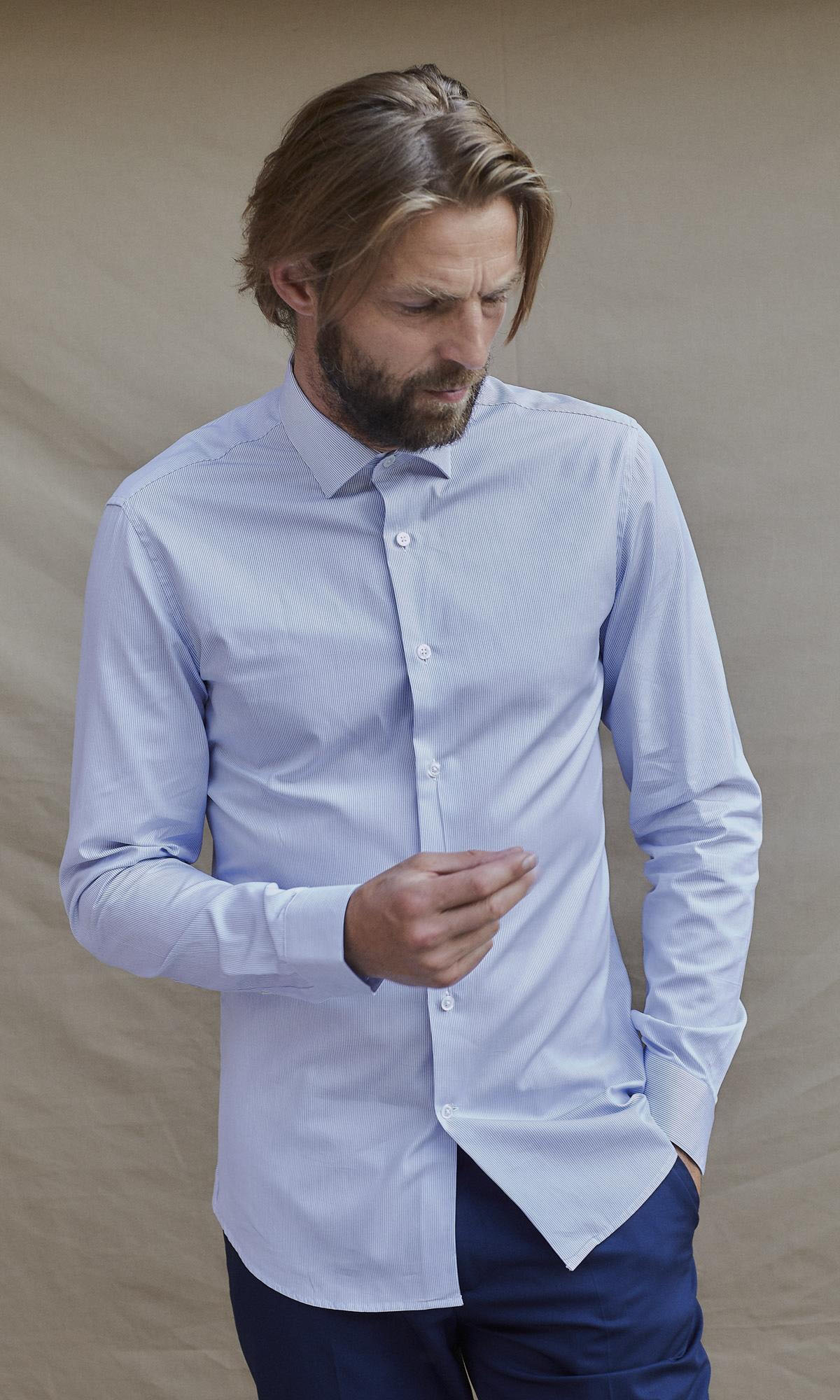 Chemise raies bleues Les chemises