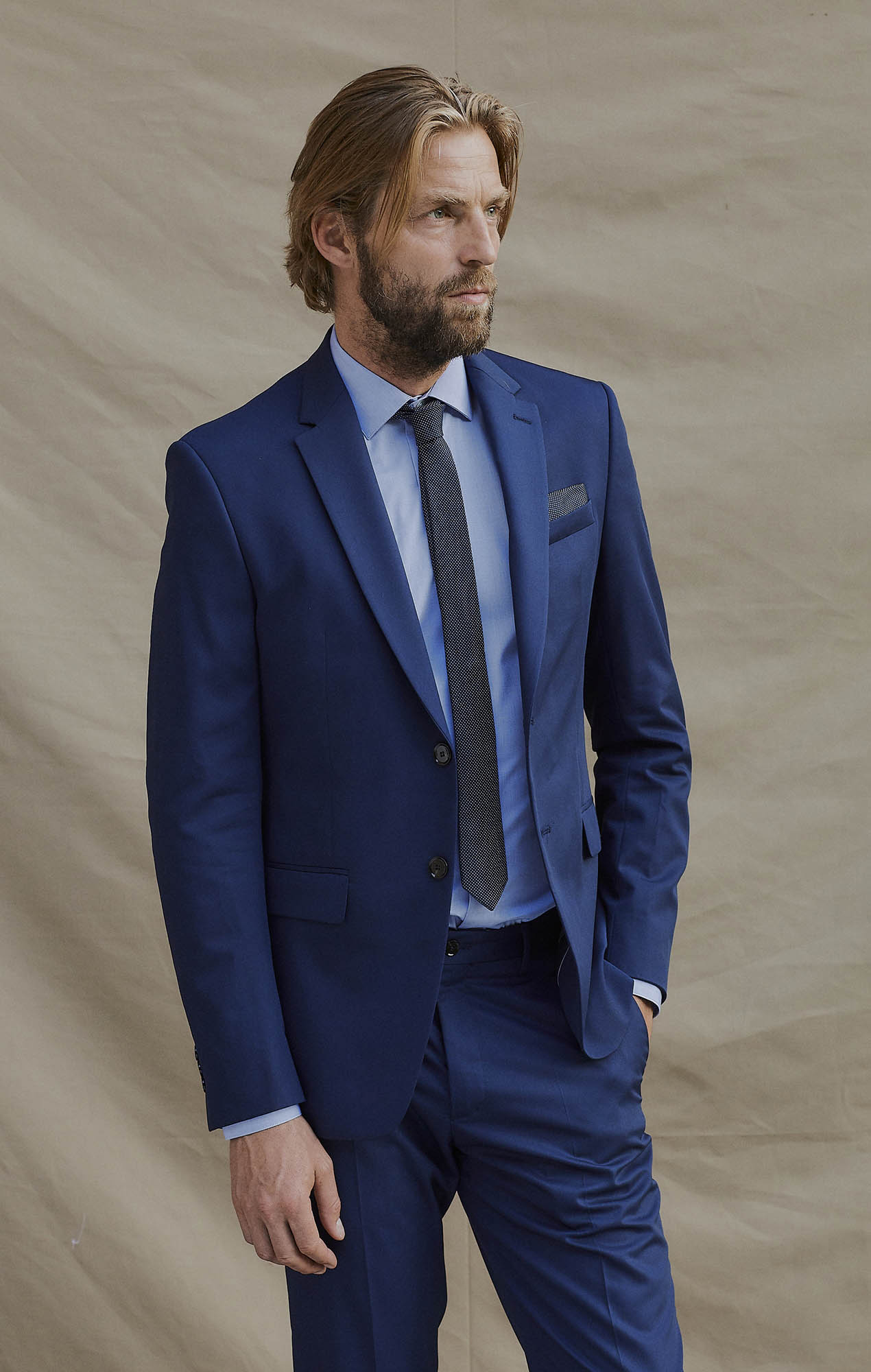 Chemise fil à fil bleu