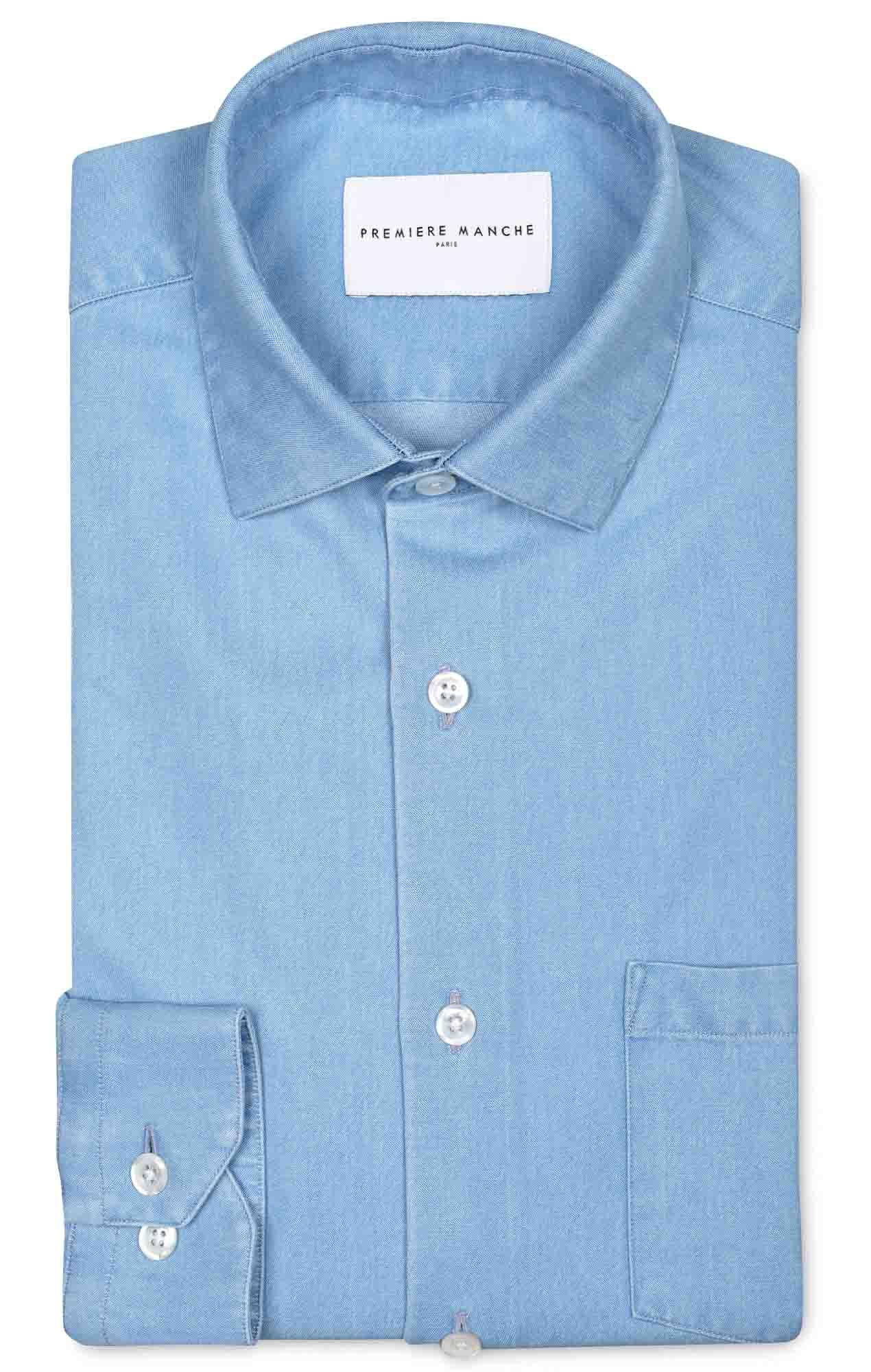 Chemise denim italien bleu ciel Les chemises