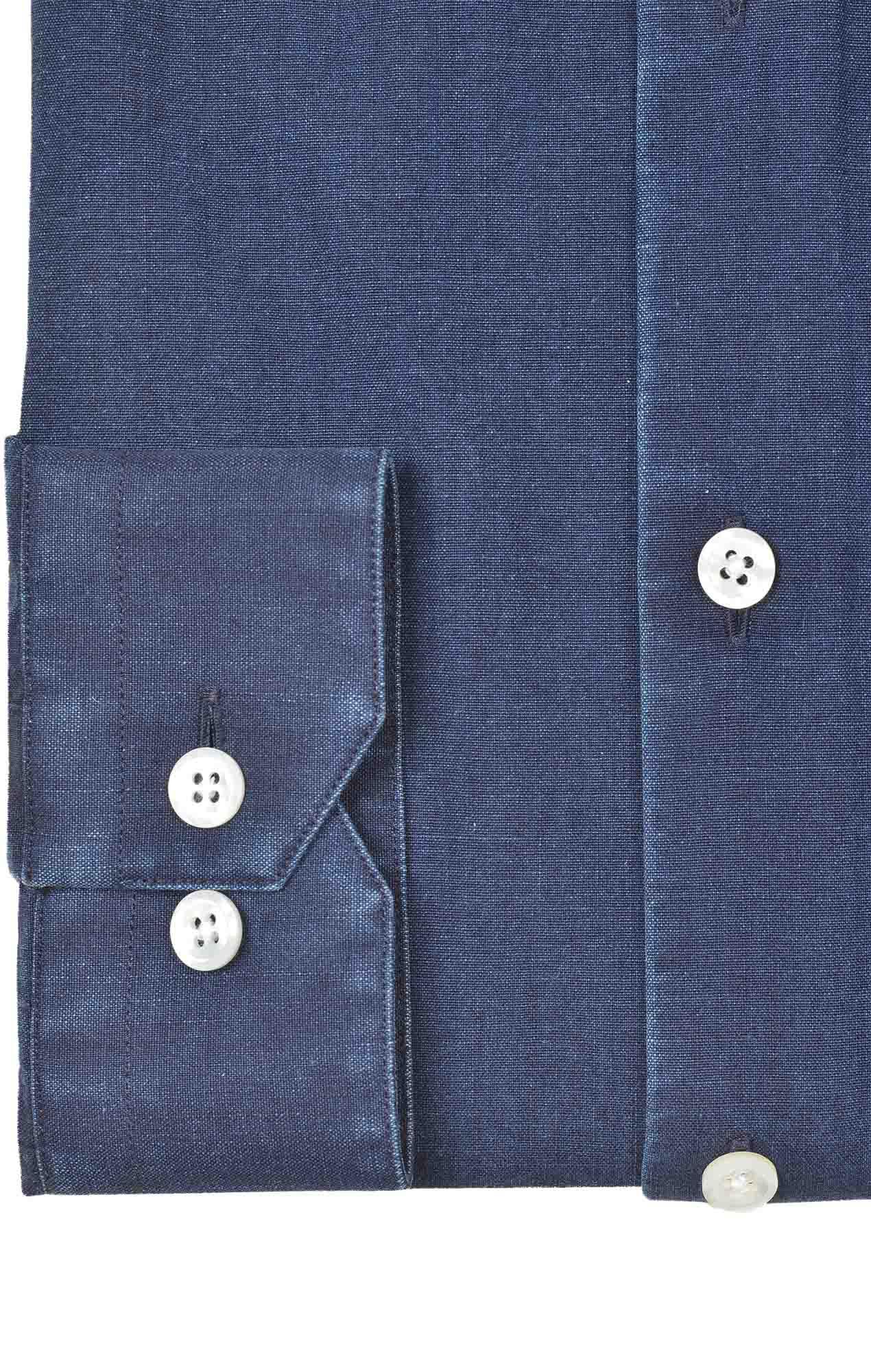 Chemise denim italien bleu Chemises Hommes