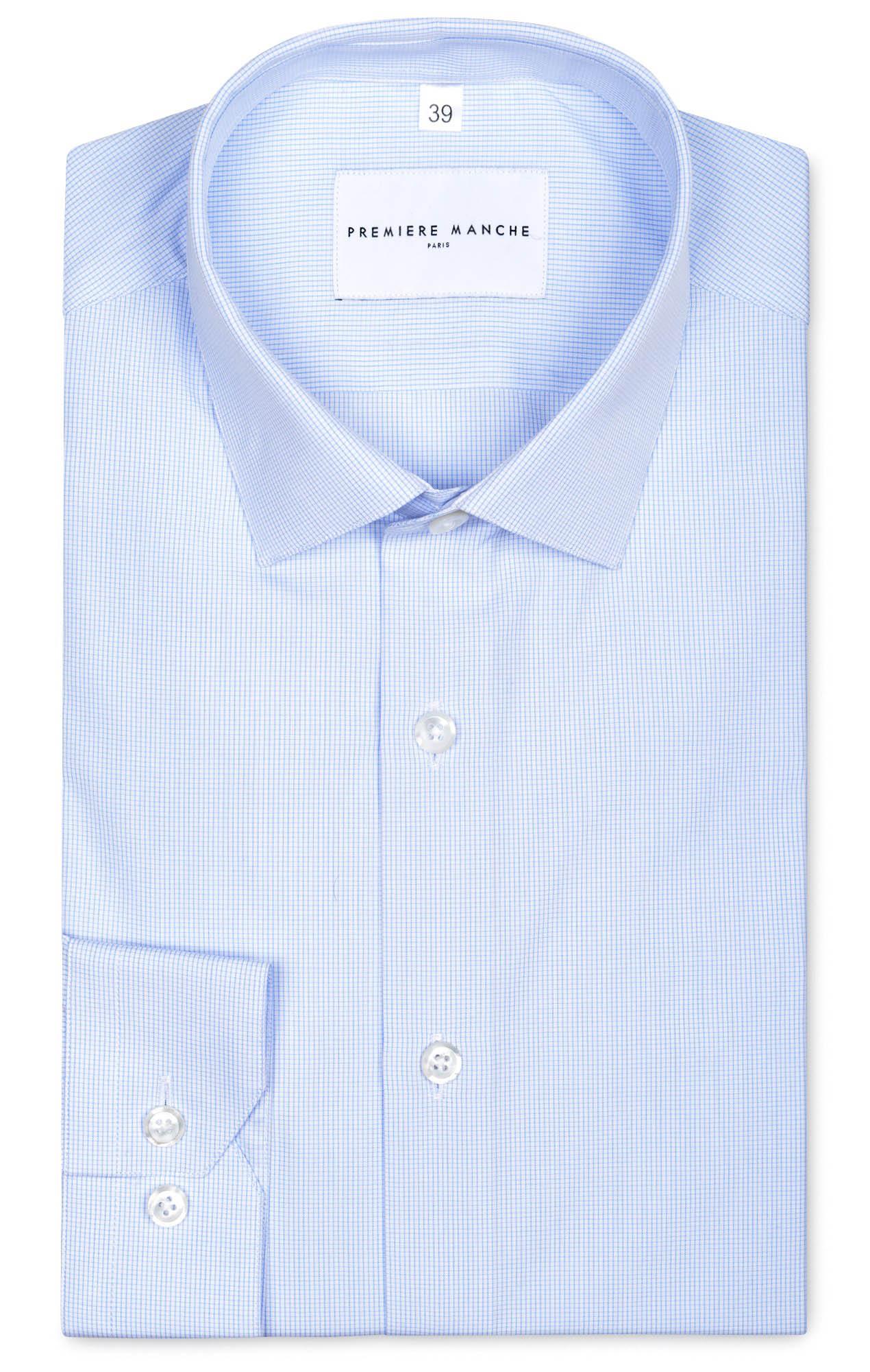 Chemise popeline petits carreaux Chemises Hommes