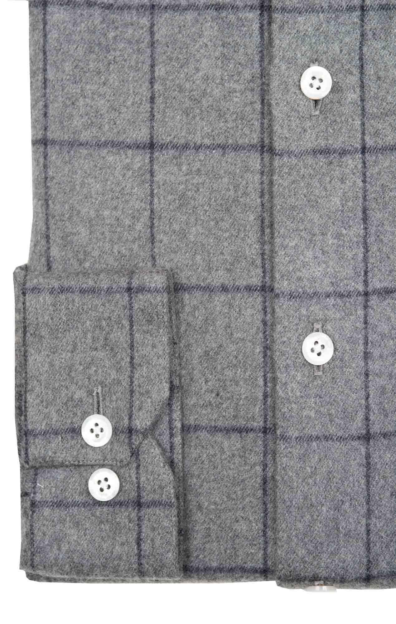 Chemise flanelle carreaux gris japonais Chemises Hommes