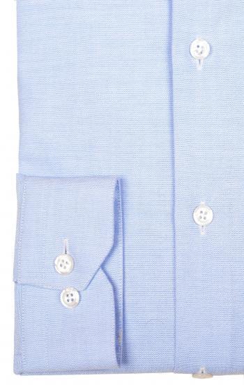 Blue oxford shirt officer collar