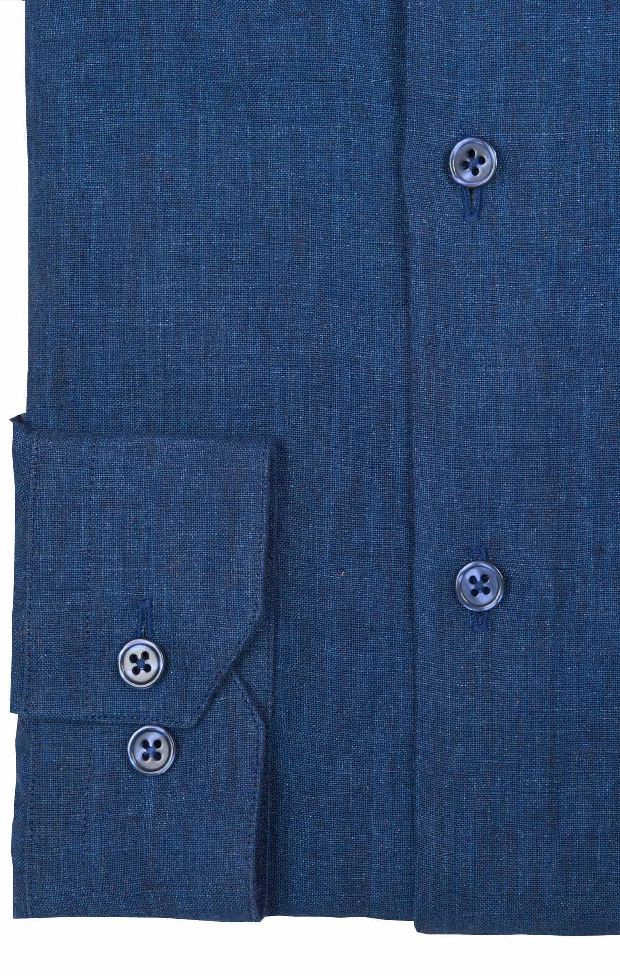 Dark blue linen shirt