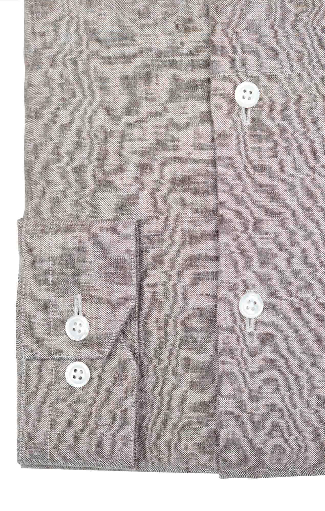 Chemise lin irlandais gris Chemises Hommes