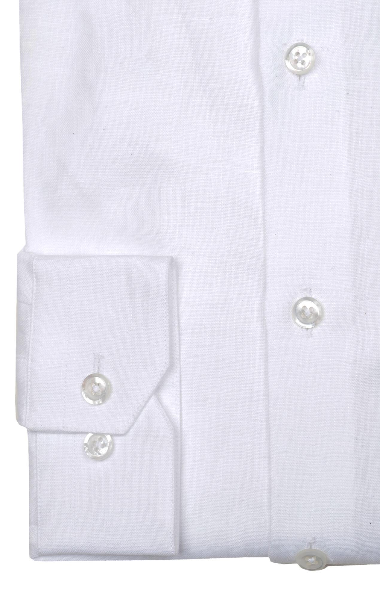 Chemise blanche lin irlandais col officier Chemises Hommes