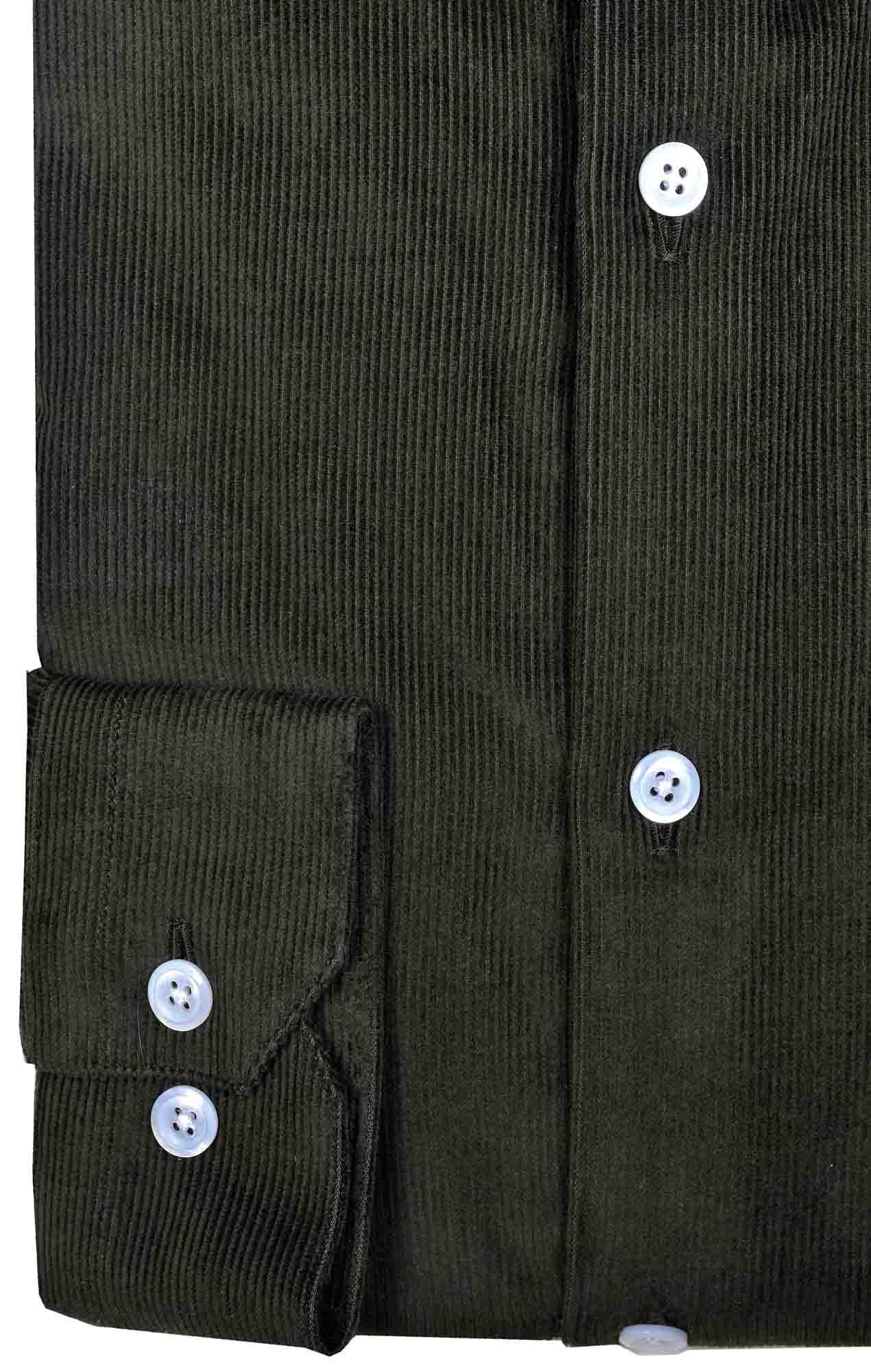 Sur-chemise velours côtelé kaki Chemises