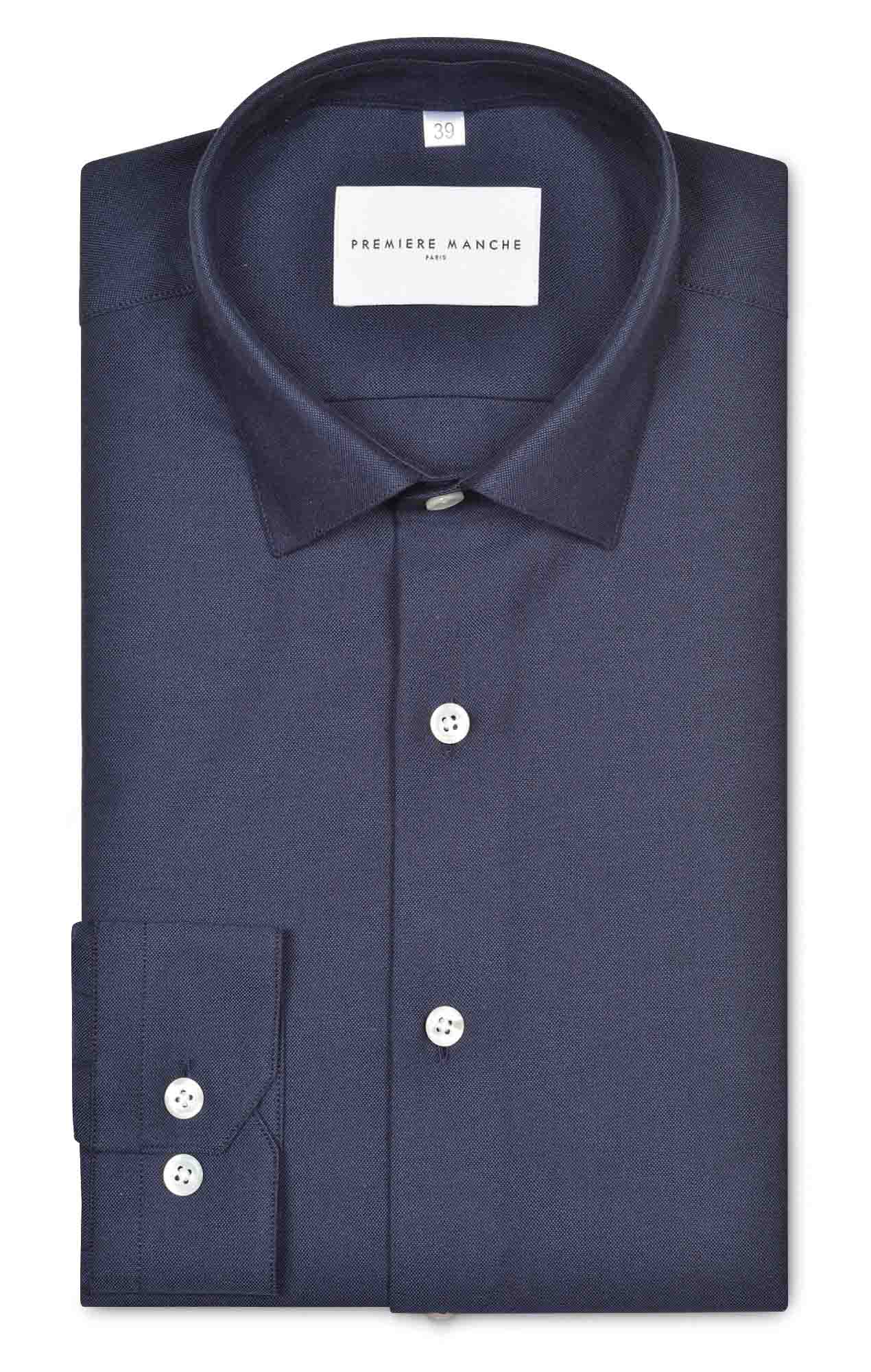 Chemise oxford bleu marine Chemises Hommes