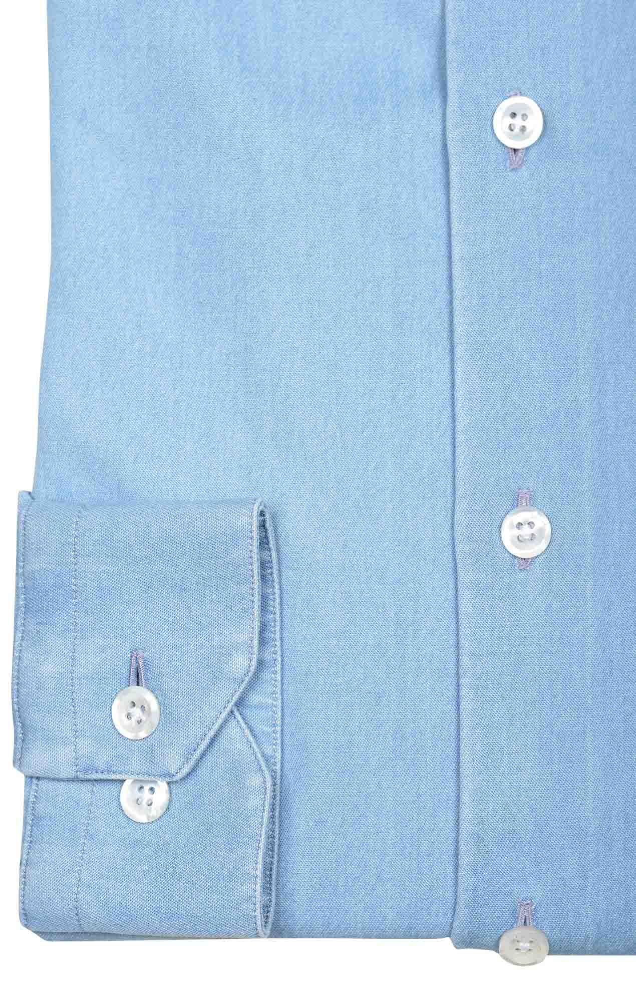 Chemise denim italien bleu ciel Chemises Hommes