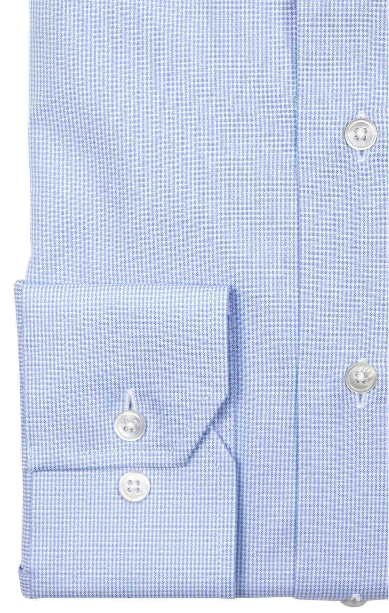 Chemise oxford bleu pied de poule Chemises Hommes