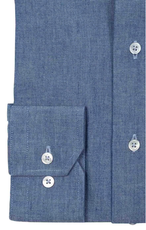 Chemise chambray italien bleu Chemises Hommes