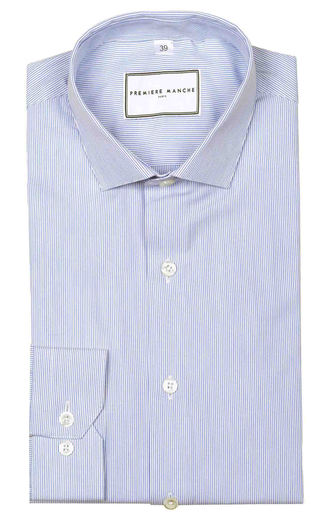 Small blue striped shirt