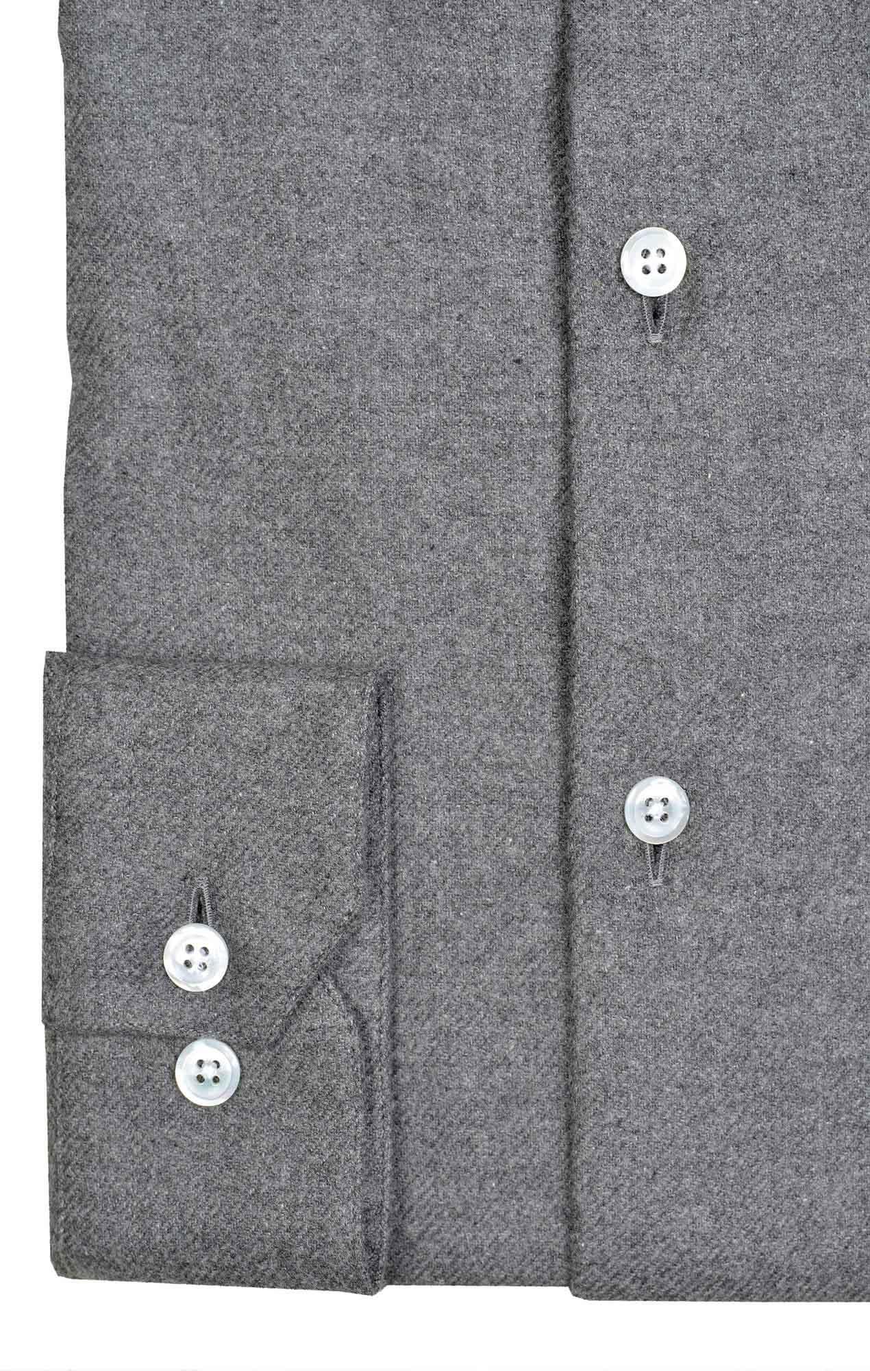 Chemise flanelle grise Chemises Hommes